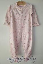 HANNA ANDERSSON Baby Organic Footed Sleeper Feet Soft Blossom 60 6-9 months NWT