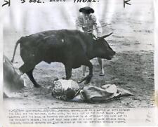 5/3/56 PERILED MATADOR CURRO LARA- MADRID, SPAIN -SYNDICATION INT'L