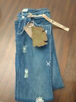 ANTIK Denim Women's Lowrise Boot Cut Blue Jeans Size 27 NWT