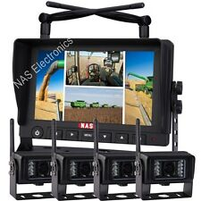 Car Security Digital Wireless Camera Quad Monitor Kit With 4 Waterproof Cameras