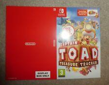 NO GAME OR BOX Nintendo Switch TOAD Treasure promo Sleeve shop display