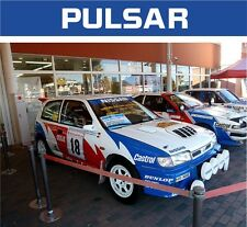 NISSAN PULSAR WINDSCREEN BANNER SUNSTRIP STICKER DECAL ALL COLOURS