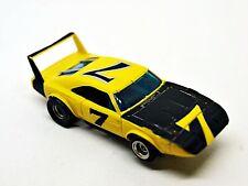 Aurora AFX Dodge Daytona Charger Yellow/Black #7 Nice  With Full Wing HTF