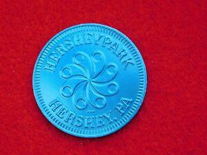 VINTAGE HERSHEY PARK PA NO CASH VALUE BLUE METAL TOKEN