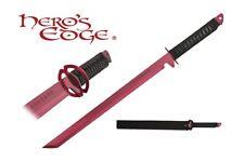 1 PC Full Tang Red Blade Straight Ninja Sword with Musashi Tsuba NEW