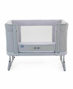 Brand new Chicco Next2me Forever bedside crib in Cool Grey from birth to 4 years