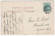 # 1904 FIFE SORTING TENDER UP =458= TPO PMK BRUCE FOUNTAIN FALKLAND PPC >LEITCH