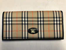 Burberry Vintage Women's Checkbook Wallet Nova Plaid Brown Tan Pattern Envelope