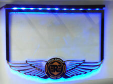 License Number Plate Fiber Sheet With Blue LED Light For Royal Enfield Bullet