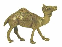 Camel Figure Antique Vintage Handmade Brass Statue Sculpture Figurine Home Decor