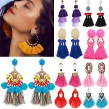 Fashion Bohemia Long Tassel Fringe Drop Dangle Ear Stud Earrings Women Jewelry