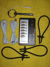 "E-Stim Electrosex Stainless Urethral 3"" W/ Through Hole Controls,Wires,3 Loops"