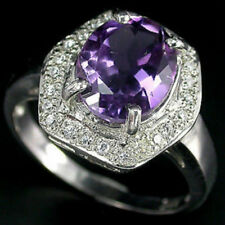 Solitaire with Accents Amethyst Amethyst Fine Rings