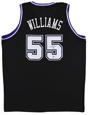 Kings Jason Williams Auténtico Firmado Autografiado Bas fue testigo de Jersey Negro