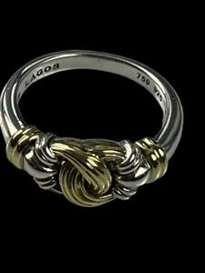 Lagos Knot Ring 925 Sterling Silver 18k Gold
