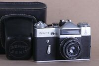 Zenit E Camera Slr, Lens Industar 50-2, M42, Films 35 mm USSR Olympiada-80