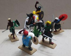 rare ARABS multicolor Tunics set DSG Plastic Toy Soldiers ARGENTINA   Britains