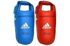 Adidas WKF Karate Foot Protectors Adult Competition Instep Guards Kick Pads