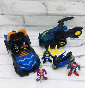 Imaginext Batman DC Joker Batmobile Helicopter Superman Motorcycle Lot Fisher