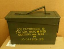 GENUINE ALL METAL NATO ISSUE AMMUNITION BOX CONTAINER
