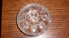 Vintage 8 Hole Clear Glass Flower Frog And Candle Holder