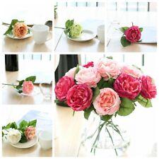 10pcs Night Rose Silk Bouquet Artificial Flowers Home Decor Wedding Valentine