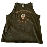 Harley Davidson Motorcycles Live to Ride Tank Ride a Legend Top Mens Size 2XL