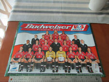 "BUDWEISER Beer 1998  France WORLD CUP SOCCER USA team 14""x20"" Man Cave poster"