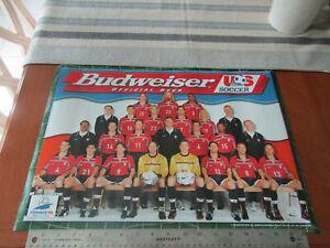 "BUDWEISER Beer 1998  France WORLD CUP SOCCER USA team 14""x20"" Man Cave poster"