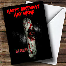 Scary The Grudge Personalised Birthday Greetings Card
