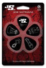 Planet Waves 10 x Joe Satriani MEDIUM plettri per chitarra / Plectrums (dieci) 1cbk4-10js