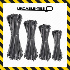 Cable Ties Black 100/140/200/250/300mm Nylon Zip Tie Wraps Various Sizes