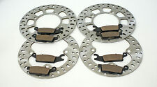 2007 2008 2009 YAMAHA YFM700 700 GRIZZLY FRONT & REAR BRAKES BRAKE PADS & ROTORS