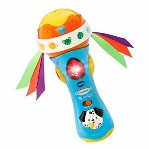 VTech Baby Babble and Rattle Microphone, Blue