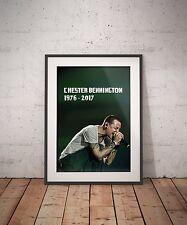 Chester Bennington Linkin Park Hybrid Live Rock Legend Tribute Art Print Poster