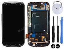 ECRAN LCD + VITRE TACTILE SUR CHASSIS POUR SAMSUNG GALAXY S3 SIII i9300 NOIR