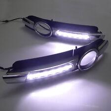 2x LED Chrome Daytime Running Fog Lights Lamp DRL Grill For AUDI A6 C6 2005-2008