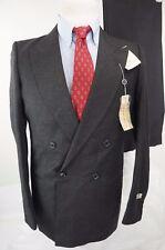 NWT $440 Giorgio Armani Mani Double Breasted Charcoal Gray Men Suit 37R / 29w