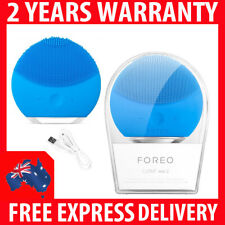 GENUINE FOREO LUNA MINI 2 SONIC SKIN CLEANING FACIAL BEAUTY BRUSH - AQUAMARINE