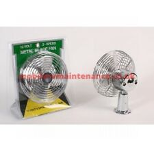 American Motorhome RV Dash Or Ceiling Fan 12 Volt Twin Speed With Metal Blades