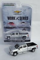 1:64 GreenLight *SILVER* 2018 Chevrolet Silverado 3500 HD DURAMAX DUALLY Pickup