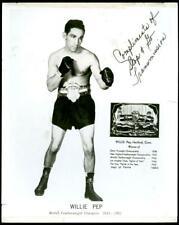 Rare 1950's Willie Pep Advertising Promo 8 x 10 Photo