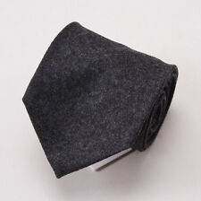 """NWT $225 LUCIANO BARBERA Charcoal Gray Soft Brushed Flannel Wool Tie 3"""""""