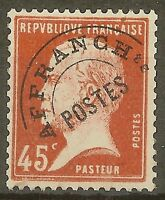"""FRANCE STAMP TIMBRE PREOBLITERE N° 67 """" PASTEUR 45c ROUGE """" NEUF xx TTB"""