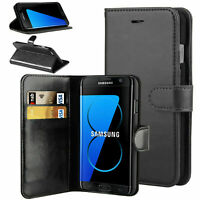 For Samsung Galaxy S6 Edge Leather Wallet Book Case Flip Cover