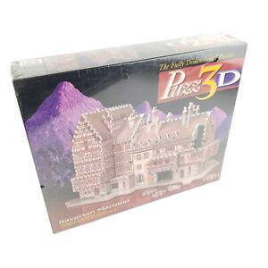 Factory SEALED Puzz 3D Bavarian Mansion Castle Milton Bradley Puzzle 418 Piece