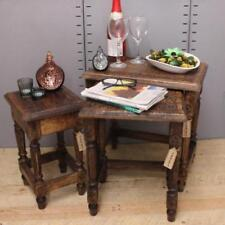 Mesas menos de 60cm color principal marrón de madera maciza para el hogar