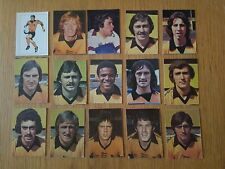 AVA Americana Football Special '79 - Set of 15 Wolves Stickers - 1979