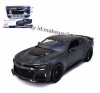Maisto 1:24 2017 Camaro ZL1 Diecast Assembly Line Metal KIT Model Car Gray Black