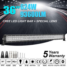 "36INCH 624W CREE LED LIGHT BAR SPOT FLOOD COMBO DRIVING 4WD CAR BOAT 35"" 37"" 38"""